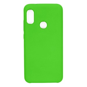 Силиконовый чехол Silky and Soft-Touch Xiaomi Redmi S2 (Green-Yellow) (31)