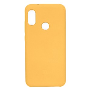 Силиконовый чехол Silky and Soft-Touch Xiaomi Redmi S2 (Rich Yellow) (04)