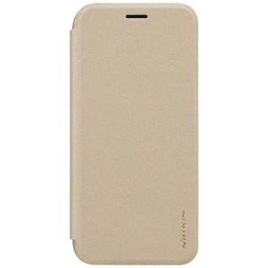 Чехол книжка NILLKIN Sparkle leather case для Samsung J5 2017 (Gold)