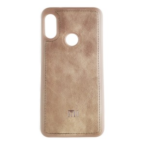 Чехол накладка Life Leather Case для Xiaomi Mi A2 Lite (Light Brown)