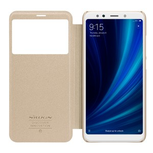 Чехол книжка с окном NILLKIN Sparkle leather case для Xiaomi Mi 6x / A2 (Gold)