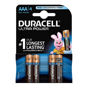Батарейка Duracell LR03 (AAA) BL4 Ultra Power (4шт)