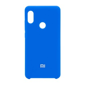 Силиконовый чехол Silky and Soft-Touch Xiaomi Redmi Note 7 (Blue) (16)